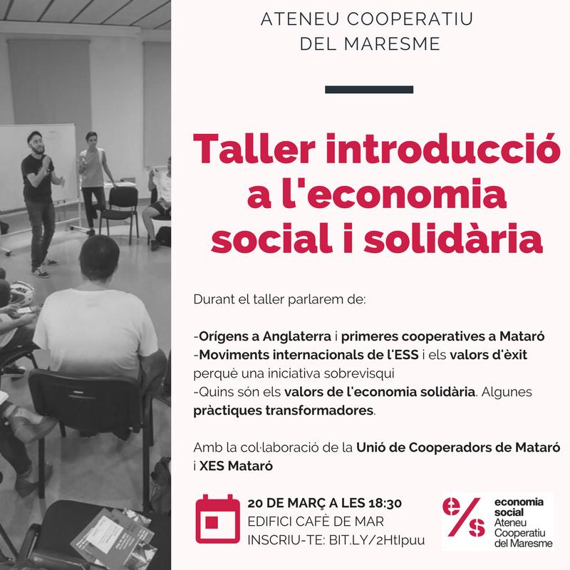 Taller introducció economia social i solidària